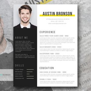 contrast-resume-design